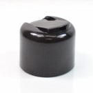 24/410 Smooth Black Presstop Symmetrical Dispensing Cap PP to 8 oz