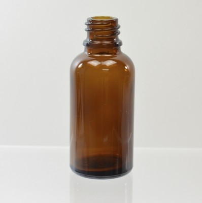 30 ml Euro Dropper 18-DIN Amber Glass Bottle