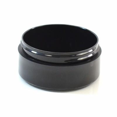 2 oz 70/400 Black Thick Wall Straight Base PP Jar