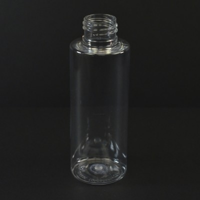 100ML 24/410 Cylinder Round Clear PET Bottle