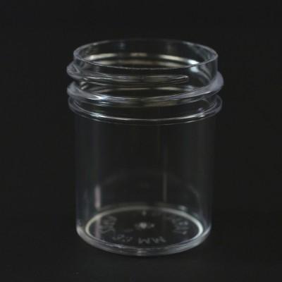 1/2 oz 33/400 Regular Wall Straight Base Clear PS Jar