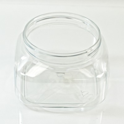 8 oz 70/400 Firenze Square Clear PET Jar