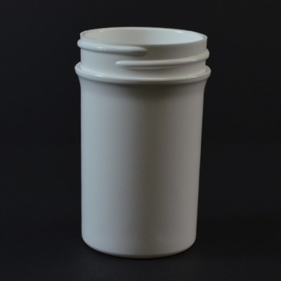2 oz 43/400 Regular Wall Straight Base White PP Jar