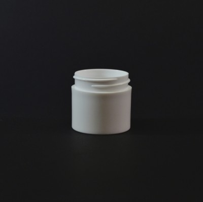 1 OZ 43/400 Thick Wall Straight Base White PP Jar - 616/Case