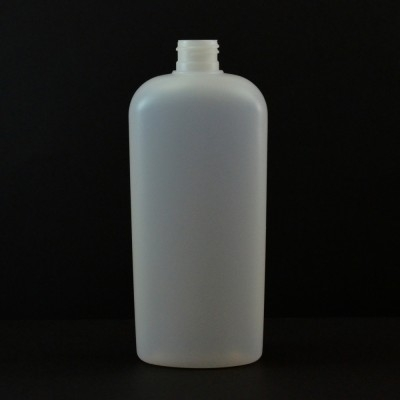 12 oz 24/410 Classic Oval Natural HDPE Bottle