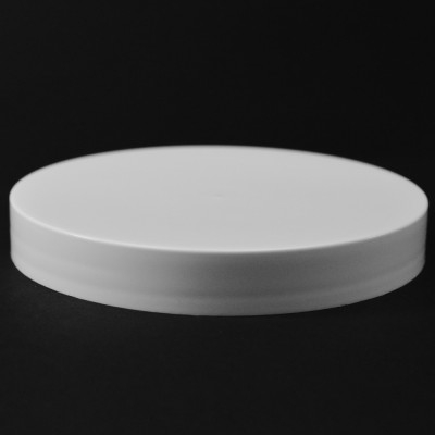110/400 White Smooth Straight PP Cap / Unlined - 216/Case