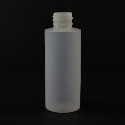 2 OZ 24/410 Cylinder Round Natural HDPE Bottle - 1000/case