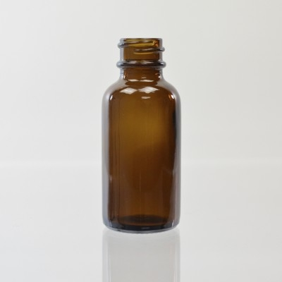 1 oz Boston Round 20/400 Amber Glass Bottle