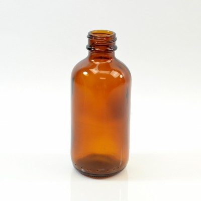 4 oz Boston Round 24/400 Amber Glass Bottle