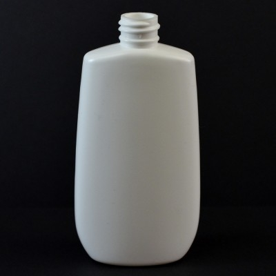 4 oz 20/410 Tapered Oval White HDPE Bottle