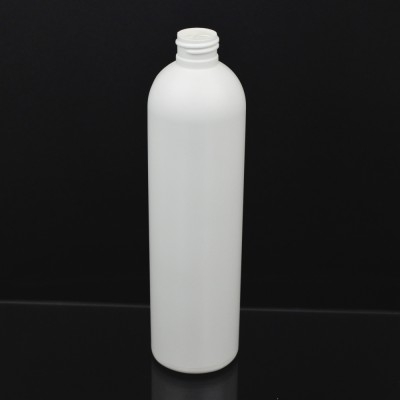 12 oz 24/410 Imperial Round White HDPE Bottle