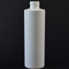 8 OZ 24/410 Cylinder Round White HDPE Bottle  - 500/case