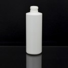 6 oz 24/410 Cylinder Round White HDPE Bottle