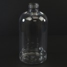 6 oz 24/410 Squat Boston Round Clear PET Bottle