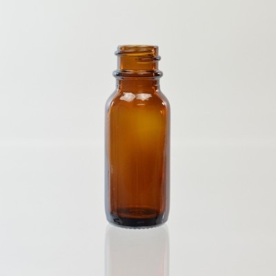 1/2 oz Boston Round 18/400 Amber Glass Bottle