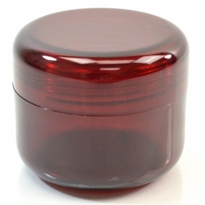 4 oz 70 MM Dark Red Thick Wall Round Base SAN Jar