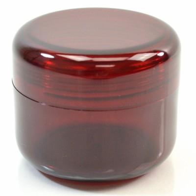 4 oz 70 MM Dark Red Thick Wall Round Base SAN Jar