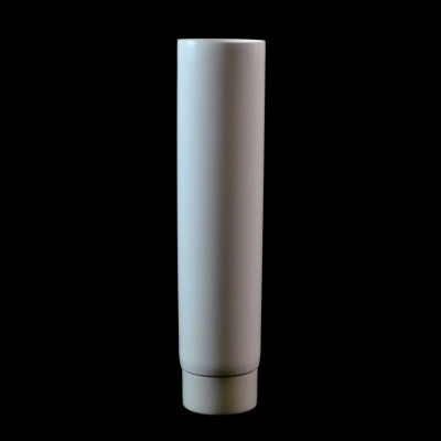 2 oz White MDPE Tube 1 3/16 X 4 5/8 with White Smooth Cap - 2050/case