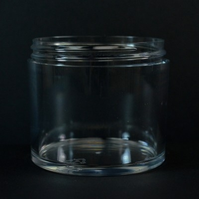 300 ML 83/400 Heavy Wall Low Profile Clear PETG Jar