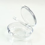 Compact Round Humidifier ABS Clear with Mirror Pinned-Hinge 3.000