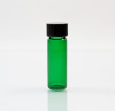1 DRAM Screw Thread Emerald Glass Vial 13/425