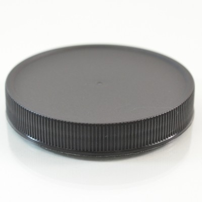 70/400 Black Ribbed Straight PP Cap / Unlined - 760/Case