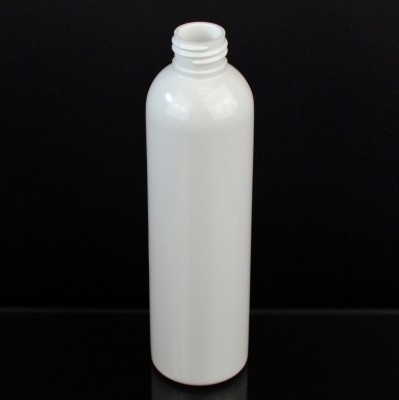 8 oz 24/410 Cosmo Round White PET Bottle