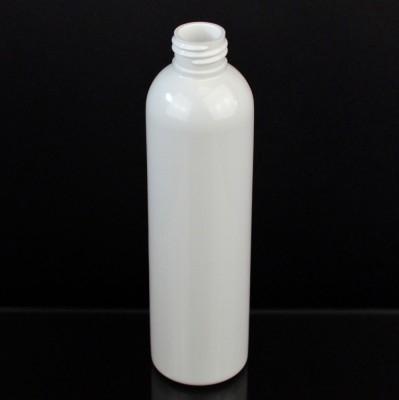8 oz 24/410 Cosmo Round White PET Bottle
