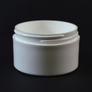 3 oz 70/400 White Thick Wall Straight Base PP Jar