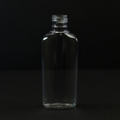 1 oz 15/415 Classic Oval Clear PET Bottle
