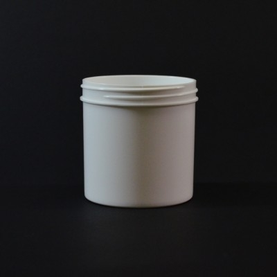 6 oz 70/400 Regular Wall Straight Base White PP Jar
