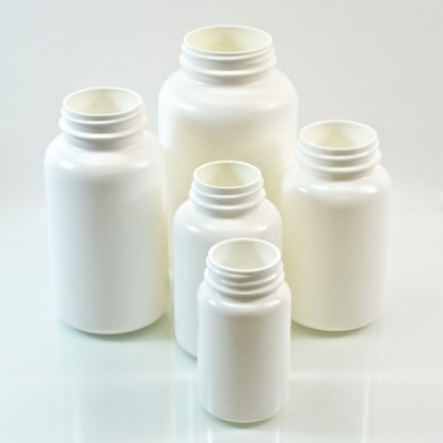 White HDPE Pharmaceutical Packers
