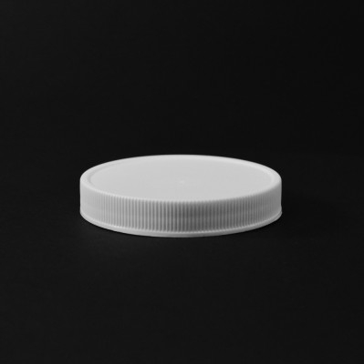70/400 White Ribbed Straight PP Cap / Unlined - 760/Case