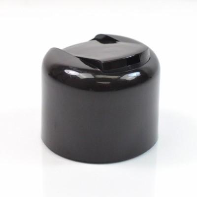 24/410 Smooth Black Presstop Symmetrical Dispensing Cap PP to 8 oz