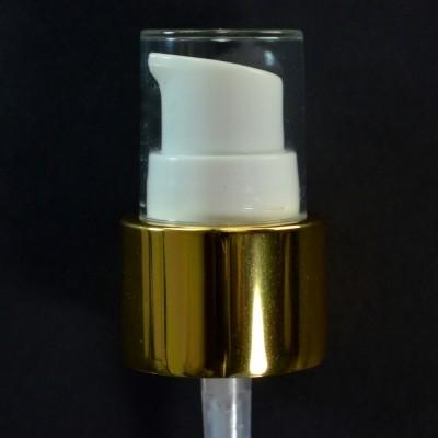 24/410 Treatment Pump Shiny Gold/White/Clear Hood