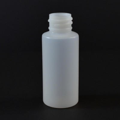 1 oz 20/410 Natural HDPE Tall Cylinder Round Bottle