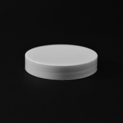 58/400 White Smooth Straight PP Cap / Unlined - 1100/Case