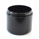 4 oz 70/400 Double Wall Straight Base Black PP Jar