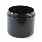 4 oz 70/400 Double Wall Straight Base Black PP Jar