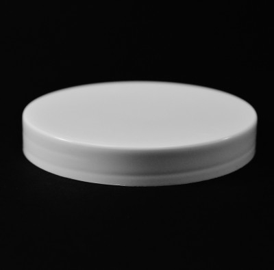 83/400 White Smooth Straight PP Cap / Unlined - 500/Case