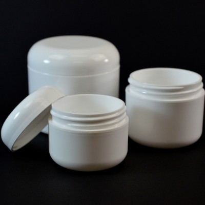 Double Wall Round Base Plastic Jars