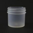 1 oz 43/400 Regular Wall Straight Base Natural PP Jar