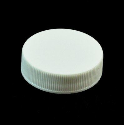 38/400 White Ribbed Straight PP Cap / PS Liner