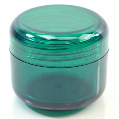 4 oz 70 MM Emerald Thick Wall Round Base SAN Jar