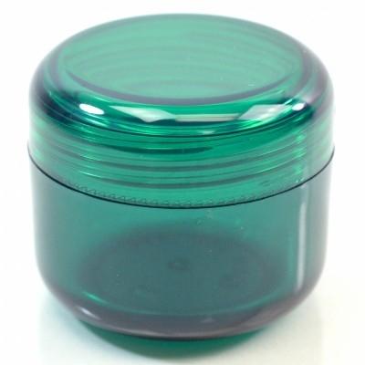 4 oz 70 MM Emerald Thick Wall Round Base SAN Jar