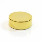 33/400 Shiny Gold Metal Overshell Straight Sided Cap F217 1.36 x .490
