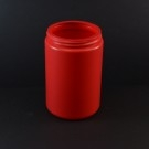 25 oz 89/400 Dark Red HDPE Wide Mouth Regular Wall Straight Sided Jar