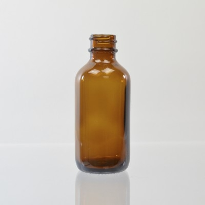 2 oz Boston Round 20/400 Amber Glass Bottle
