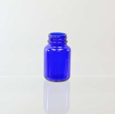 60CC Packer 33/400 Cobalt Glass Nutritional Supplement Packer