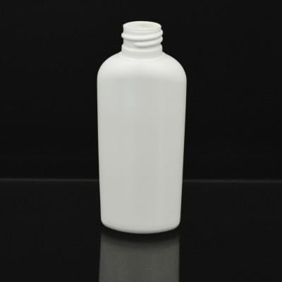 6 oz 24/410 Classic Oval White HDPE Bottle
